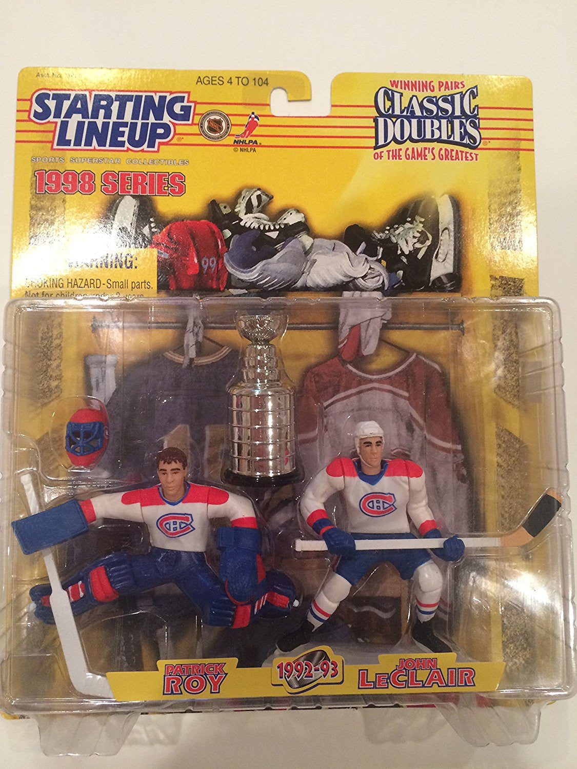 1998 Patrick Roy and John LeClair NHL Hockey Classic Doubles Starting Lineup Figures by Starting Line Up