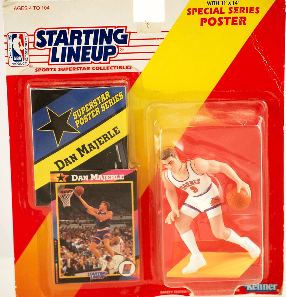 1992 - Kenner - Starting Lineup - Special Series - Dan Majerle #9 - Phoenix Suns - NBA - Sports Figure - Includes Trading Card & 11x14 Poster - Vintage - Limited Edition - Collectible