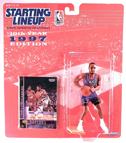 DAMON STOUDAMIRE / TORONTO RAPTORS * 1997 * NBA Starting Lineup & Exclusive TOPPS Collector Trading Card