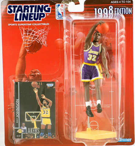 MAGIC JOHNSON / LOS ANGELES LAKERS 1998 NBA Starting Lineup Action Figure & Exclusive NBA Collector Trading Card