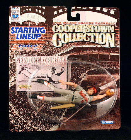 BROOKS ROBINSON / BALTIMORE ORIOLES 1997 MLB Cooperstown Collection Starting Lineup Action Figure & Exclusive Trading Card