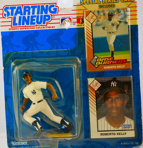 1993 Starting Lineup - MLB - Special Series - Roberto Kelly #39 - New York Yankees - w/ Trading card & Base Burners Card - Limited Edition - Collectible