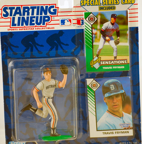 1993 Starting Lineup MLB Travis Fryman #24 Detroit Tigers Vintage Action Figure - w/ Trading Card & Special Series Card - Limited Edition - Collectible