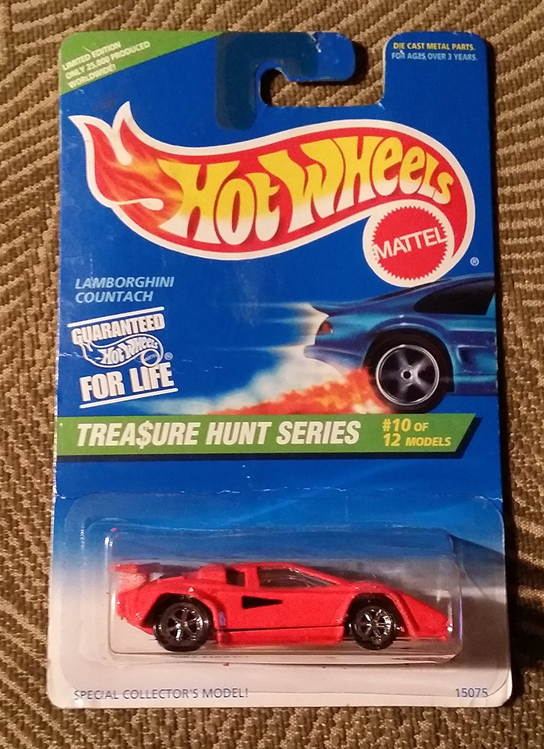 HOT WHEELS TREASURE-HUNT 1996 #10 OF 12 -LAMBORGHINI COUNTACH