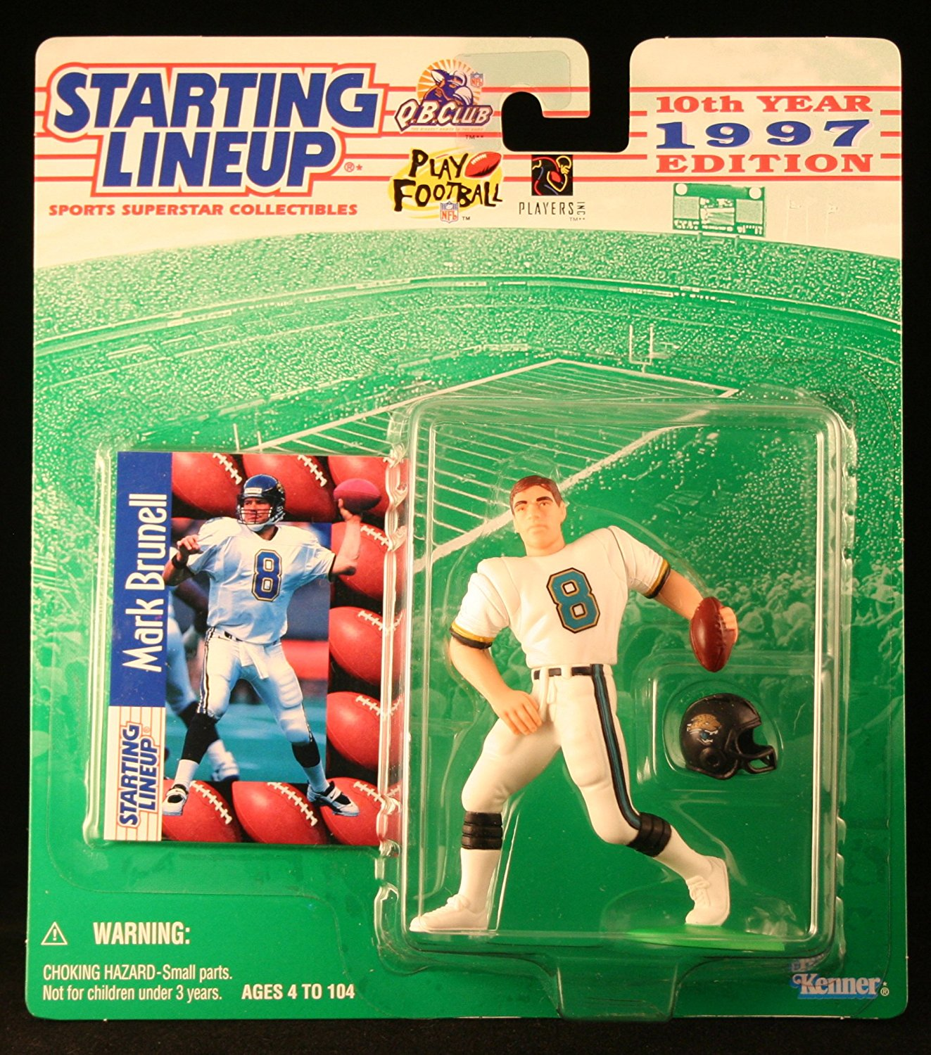 MARK BRUNELL / JACKSONVILLE JAGUARS 1997 NFL Starting Lineup Action Figure & Exclusive NFL Collector Trading Card