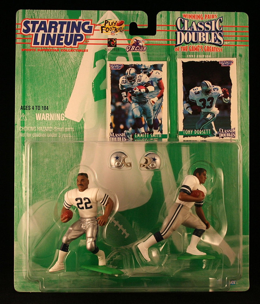 1997 NFL Starting Lineup Classic Doubles - Emmitt Smith & Tony Dorsett - Dallas Cowboys