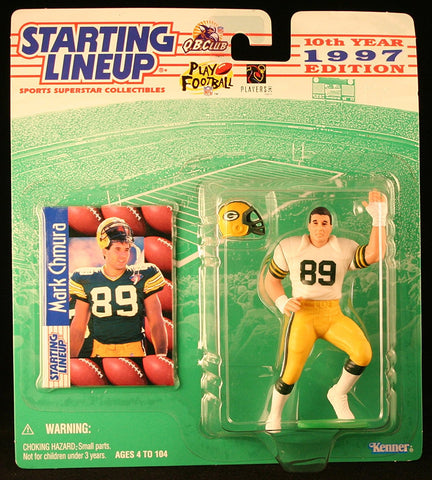 MARK CHMURA / GREEN BAY PACKERS 1997 NFL Starting Lineup Action Figure & Exclusive NFL Collector Trading Card