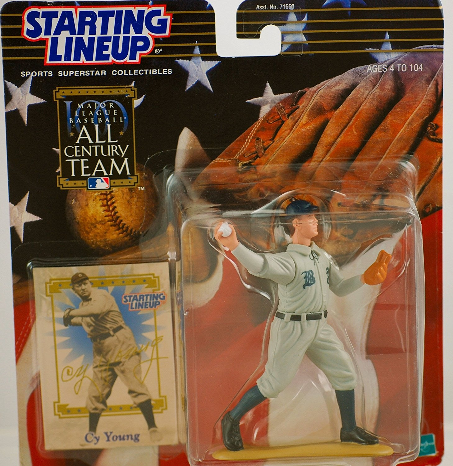 CY YOUNG / BOSTON AMERICANS 2000 MLB All Century Team Starting Lineup Action Figure & Exclusive Collector Trading Card