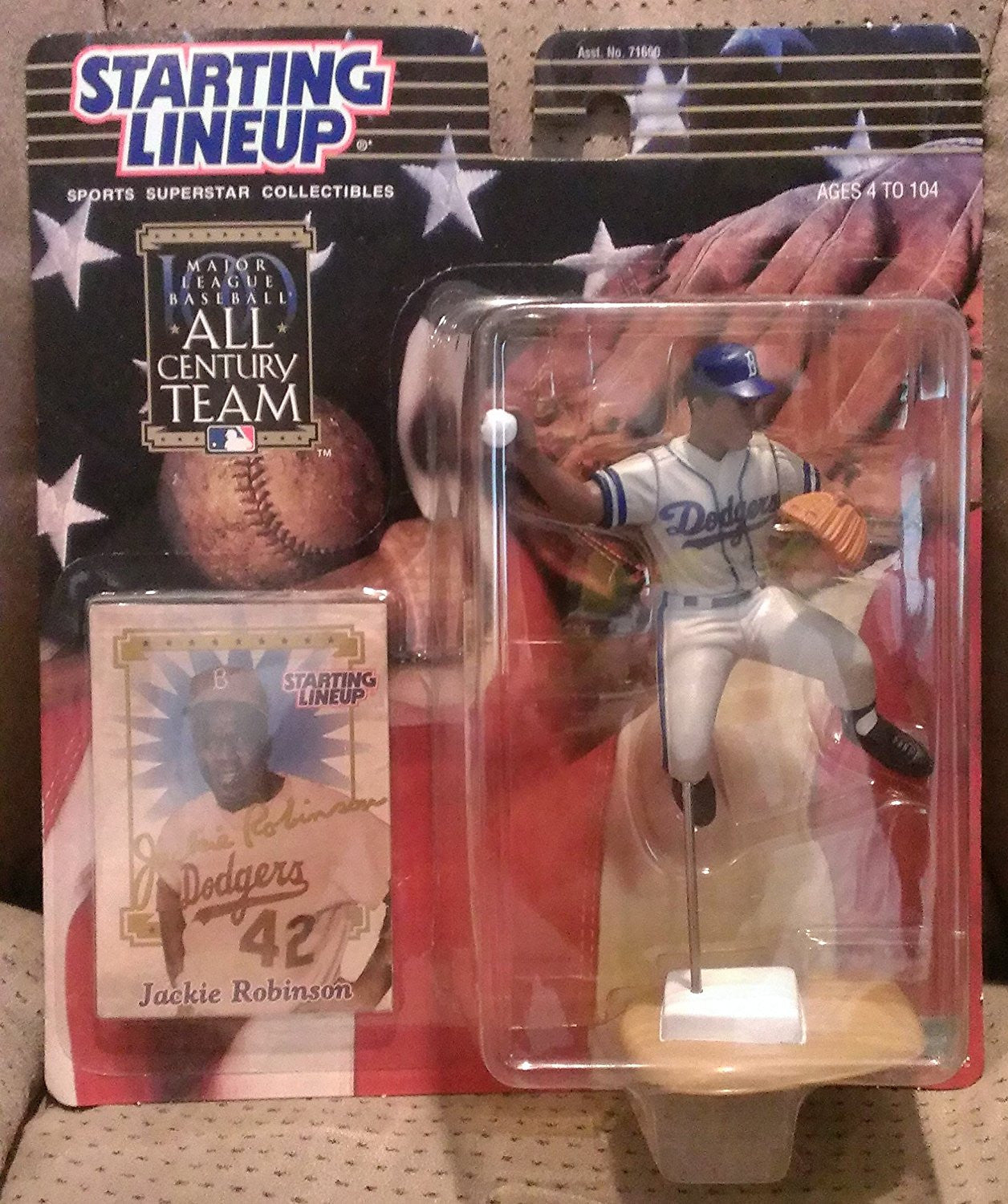 2000 MLB All Century Team Starting Lineup - Jackie Robinson - Brooklyn Dodgers