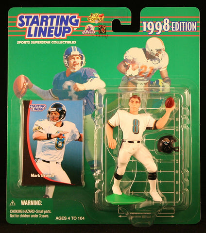 MARK BRUNELL / JACKSONVILLE JAGUARS 1998 NFL Starting Lineup Action Figure & Exclusive NFL Collector Trading Card