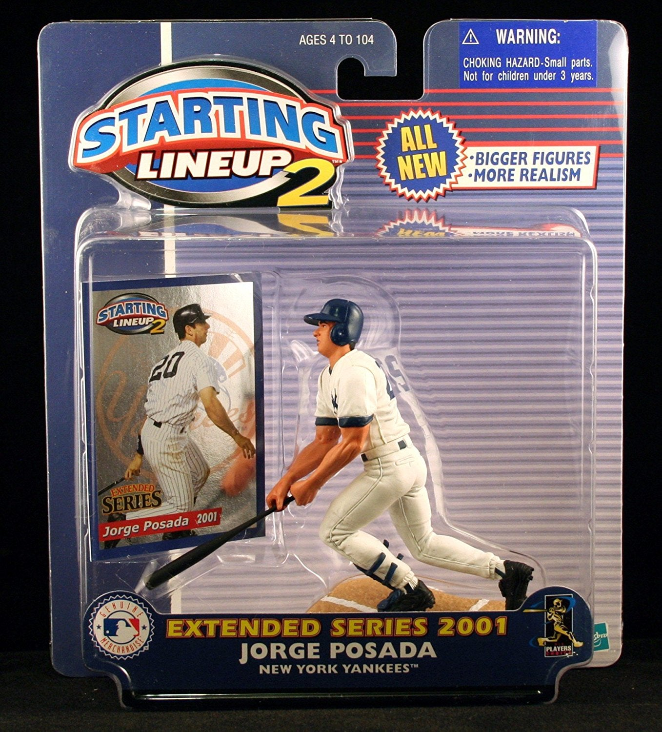 JORGE POSADA / NEW YORK YANKEES 2001 MLB Starting Lineup 2 EXTENDED SERIES Action Figure & Exclusive Trading Card