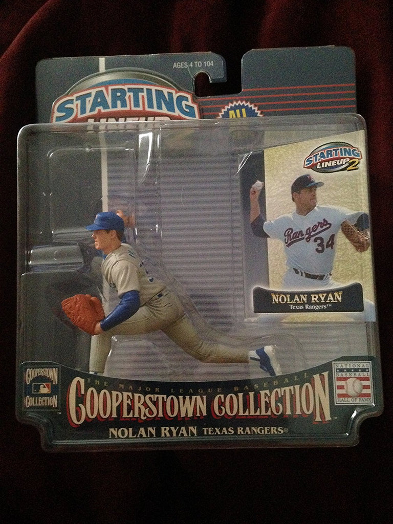 NOLAN RYAN / TEXAS RANGERS 2001 MLB Cooperstown Collection Starting Lineup 2 Action Figure & Exclusive Trading Card