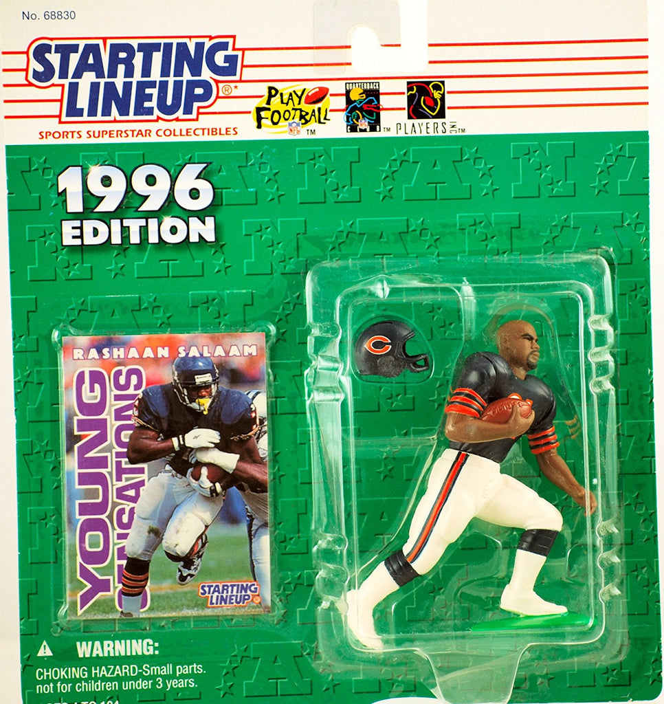 RASHAAN SALAAM / CHICAGO BEARS 1996 NFL Starting Lineup Action Figure & Exclusive NFL Collector Trading Card