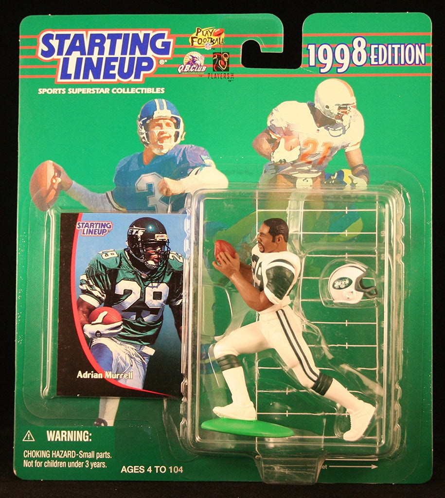 ADRIAN MURRELL / NEW YORK JETS 1998 NFL Starting Lineup Action Figure & Exclusive NFL Collector Trading Card