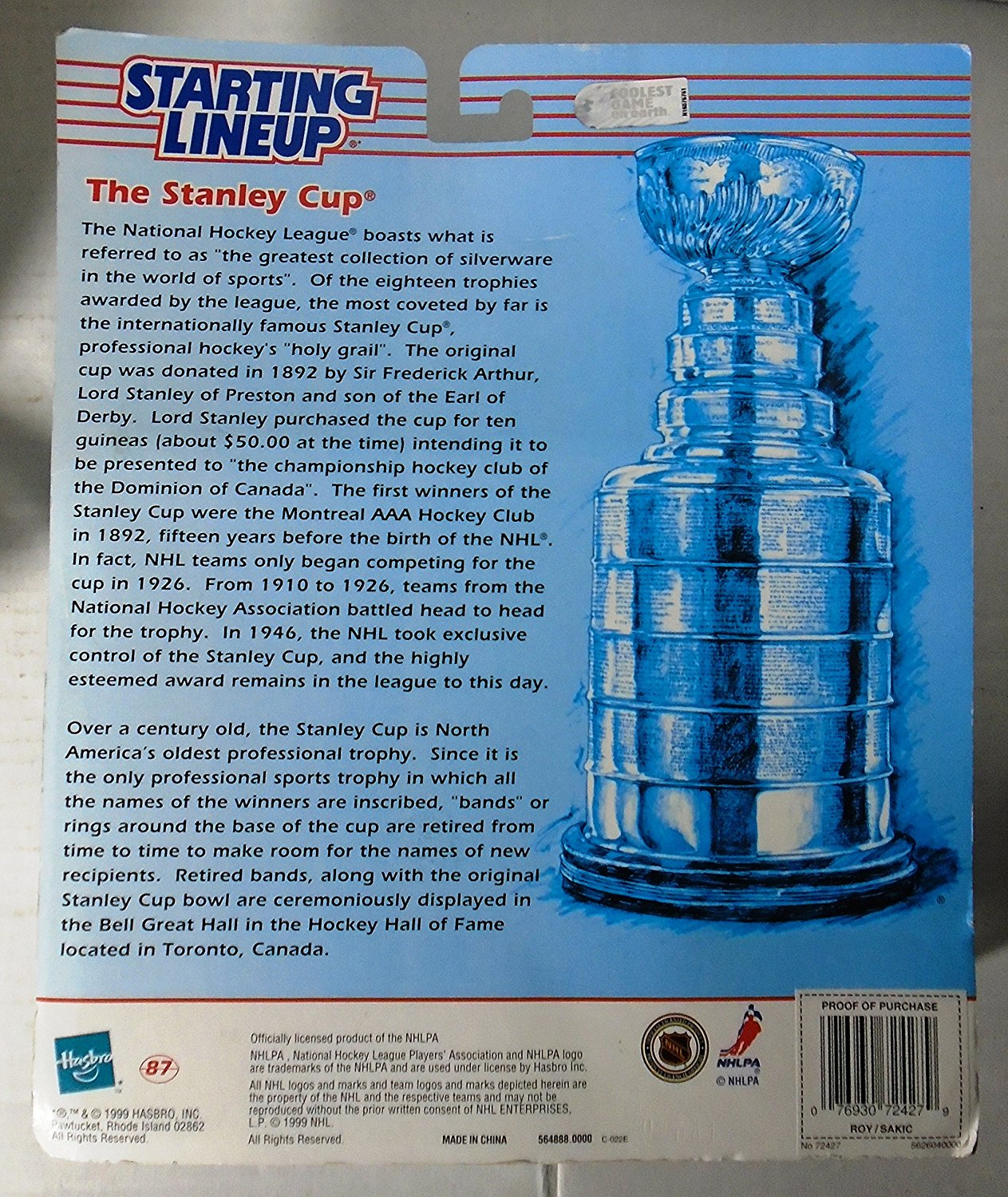 Starting Linup NHL Classic Doubles Patrick Roy & Joe Sakic