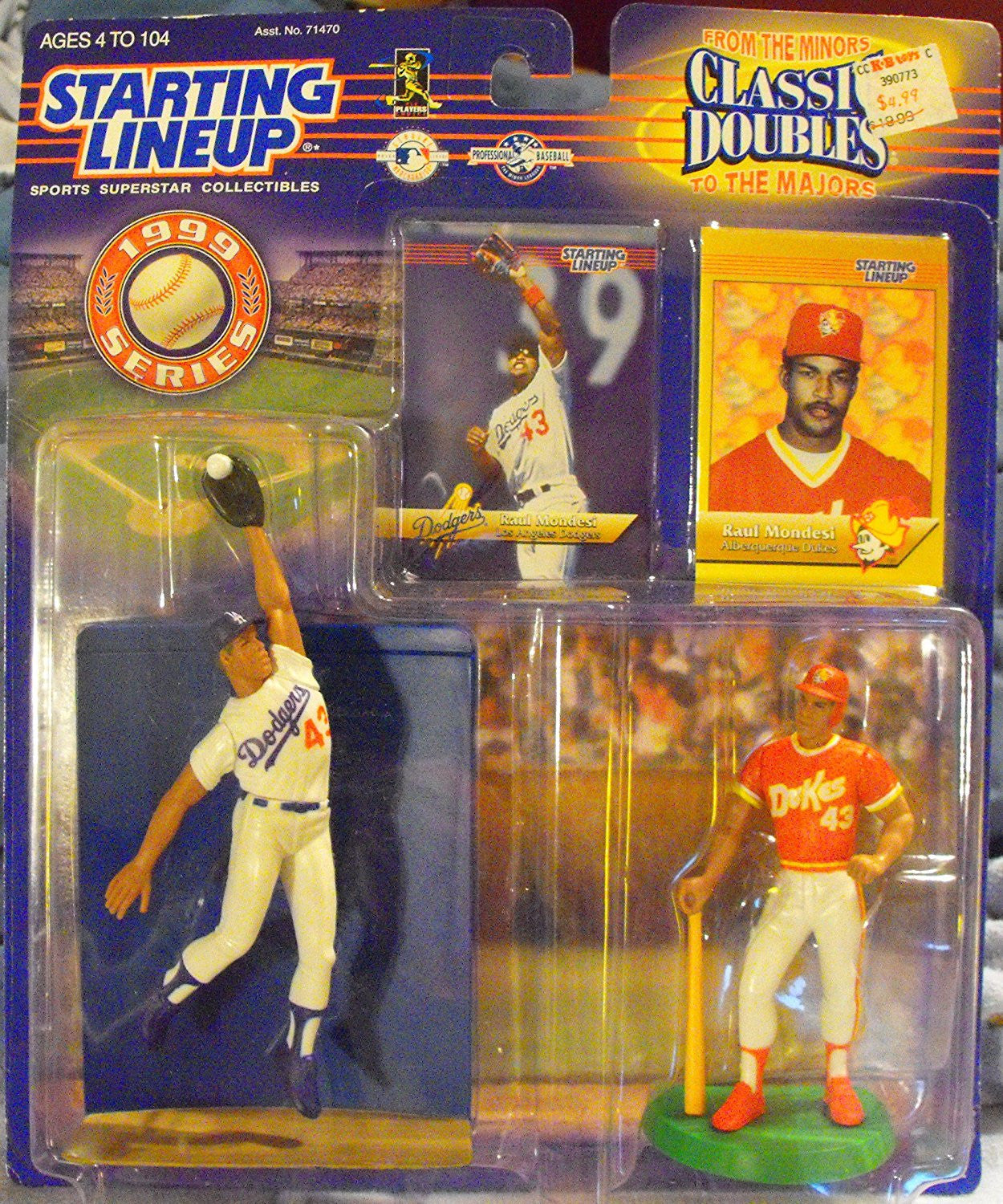 Starting Lineup Classic Doubles Raul Mondesi