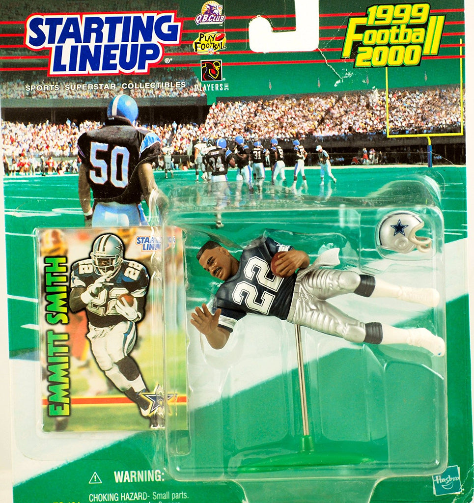 EMMITT SMITH / DALLAS COWBOYS 1999-2000 NFL Starting Lineup Action Figure & Exclusive NFL Collector Trading Card