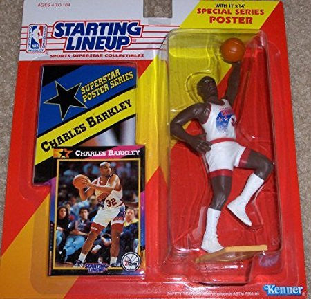 1992 Charles Barkley NBA Starting Lineup Philadelphia 76ers