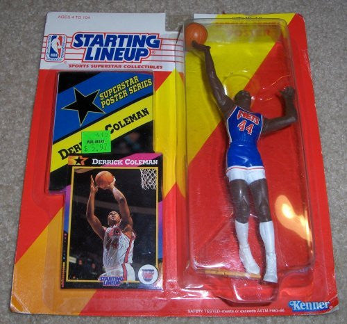 1992 Derrick Coleman NBA Starting Lineup New Jersey Nets