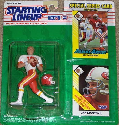 1993 Joe Montana Kansas City Chiefs Starting Lineup NFL Football Figure