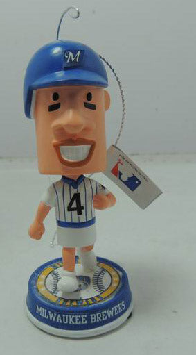 2014 Racing Sausage Hot Dog #4 Holiday Ornament Bobble head only 360 were made Forever collectibles Milwaukee Brewers check out the other 4 are available or buy the set