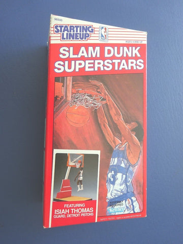 Magic Johnson  Red Box Slam Dunk exclusive Starting lineup Very Rare Los Angeles Lakers