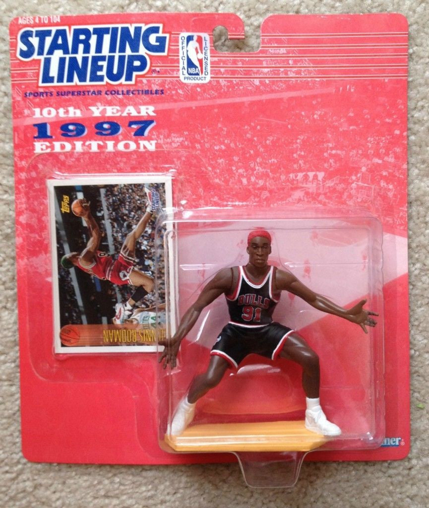 1997 Dennis Rodman Starting Lineup Red Hair