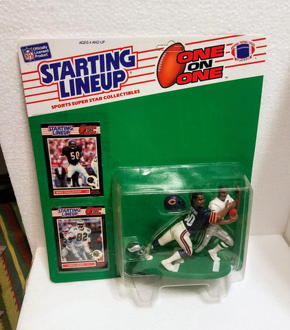 1989 Starting lineup Mike Singletary & Mike Quick   One on One   Un-punched MOC