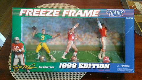 Joe Montana 1998  Freeze Frame  Club figure Starting lineup figure NFL  Chiefs 49ers