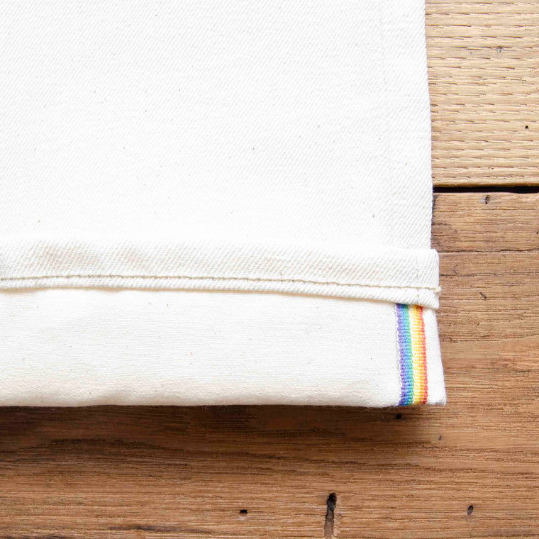 Style J59132 :  Limited Edition PRIDE Natural Rainbow Selvage Stretch Denim 10.00oz