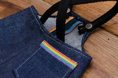 Mini Overalls Made with Cone Denim Pride Selvage