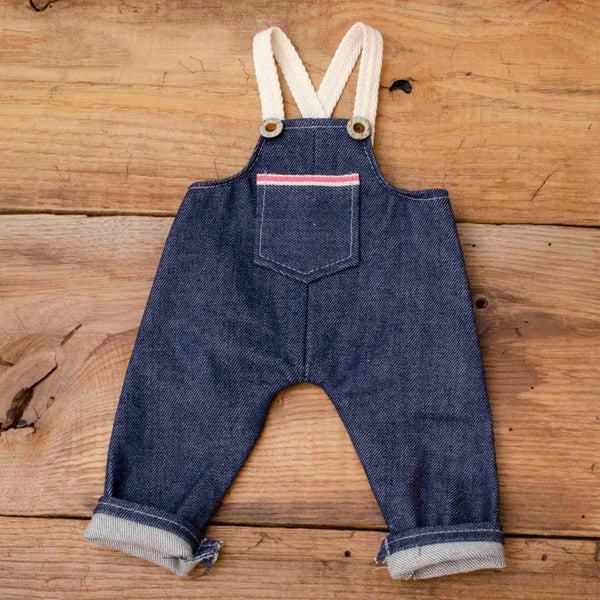 Mini Overalls Made with Breast Cancer Awareness Pink Selvage