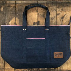 Breast Cancer Awareness Pink Selvage Tote