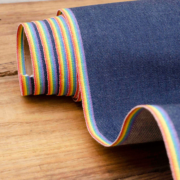 Style J59371 : Limited Edition PRIDE Rainbow Stretch Selvage Denim 11.25oz