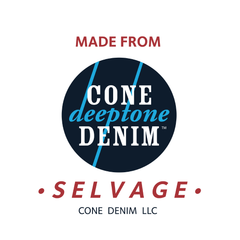Style J57811 : 10 oz. Cone Deeptone Denim™ Lightweight Indigo Selvage with Natural ID