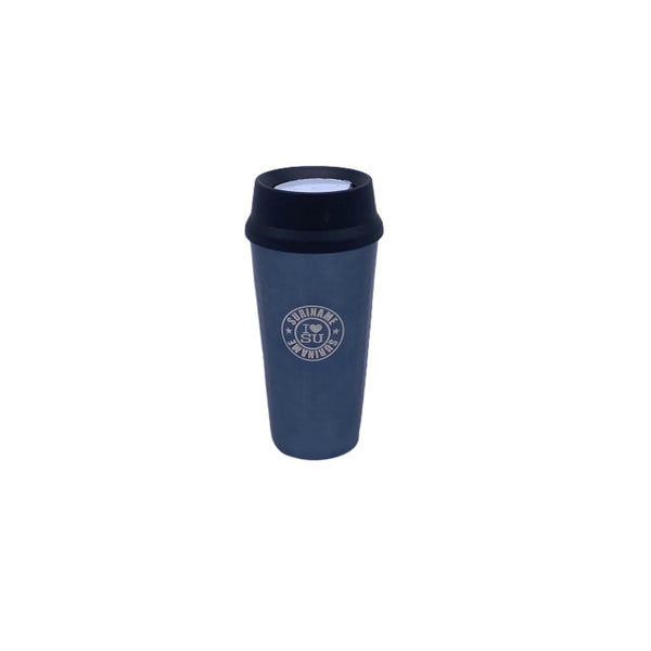 I Love Su vacuum insulated coffee tumbler with press lid