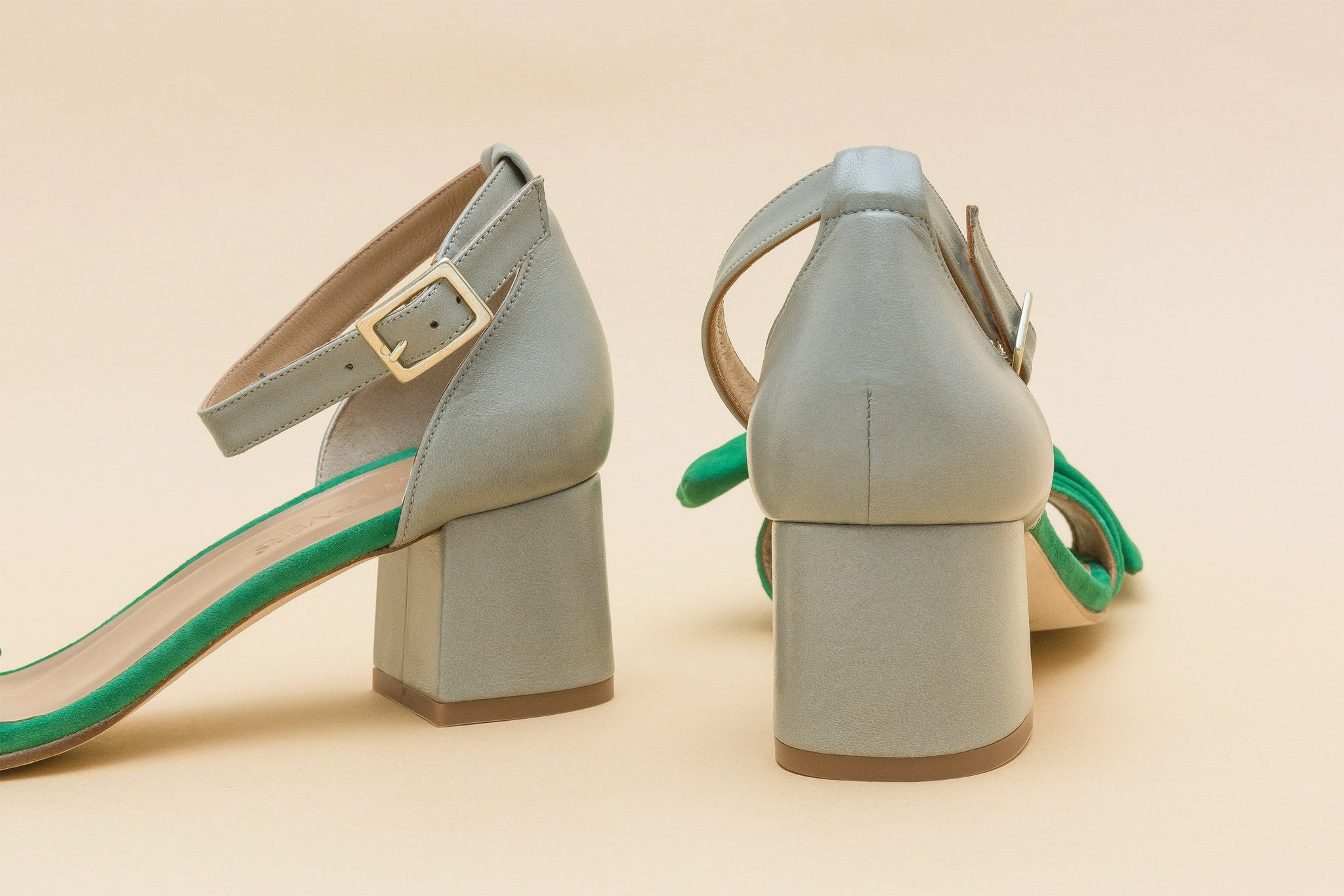 LUNA Green Bow Sandal