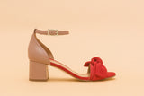LUNA Red Bow Sandal