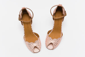 RIONA Snake Peach Sandals