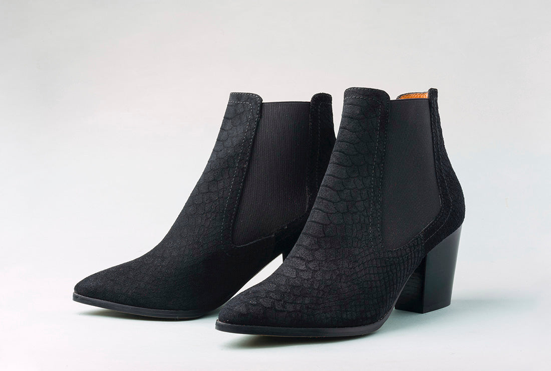 CALISTO Snake Black Boot