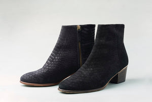 CARTER Black Snake ankle bootie