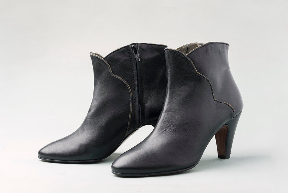 CORINA Black High Heel Booties