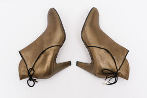 FLORENCE Metal Copper Leather Bootie