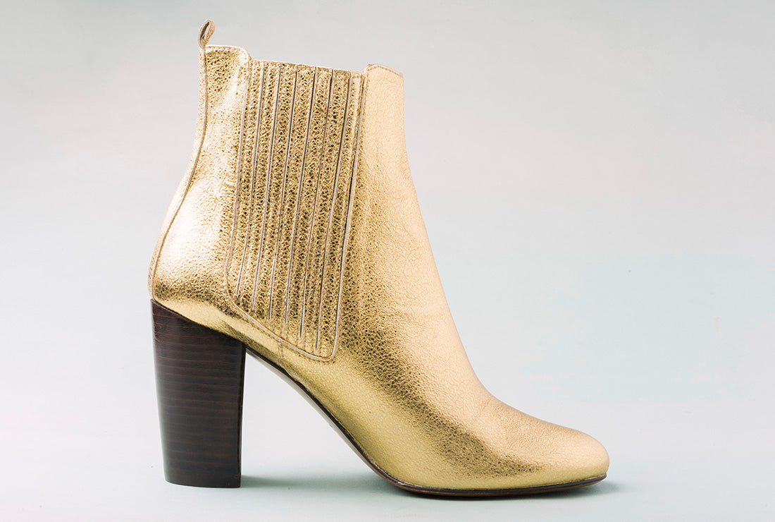 HOPE Golden High Heel Chelsea Boot