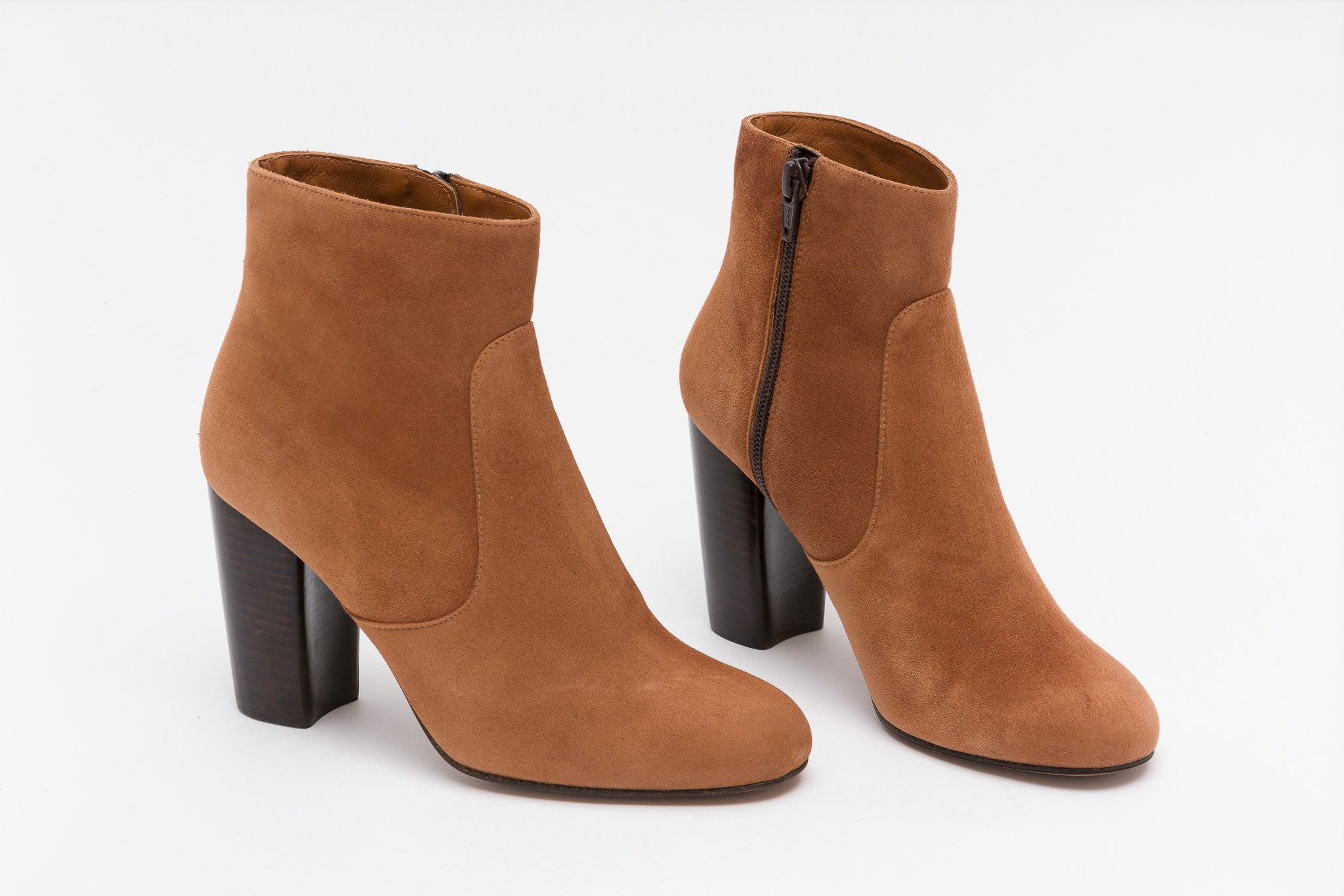 MARTELL Suede Ocre High Heel Boots