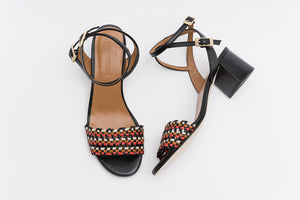 MAY Multicolor Woven Sandal