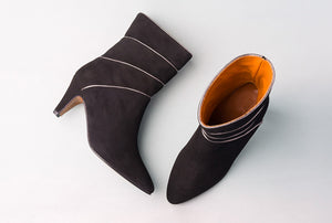NOAH Suede Black Pixie Boot