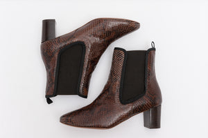 ODELLE Snake Taupe Boots
