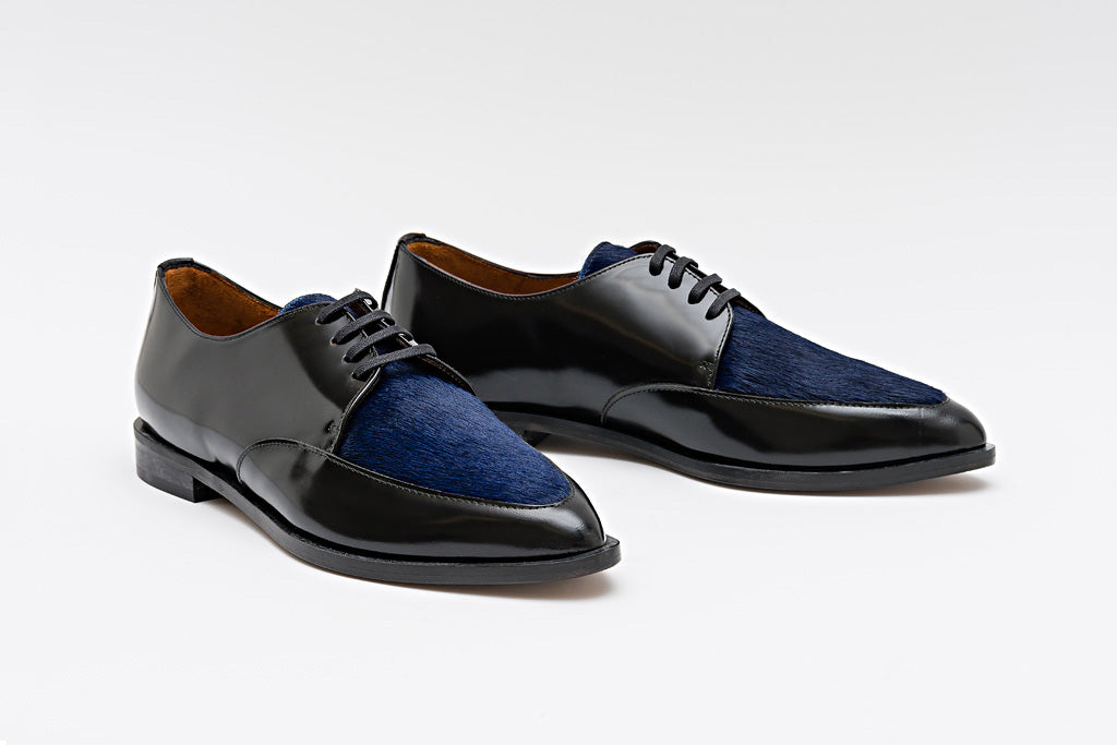 PATTY Pony Blue Derby Shoe
