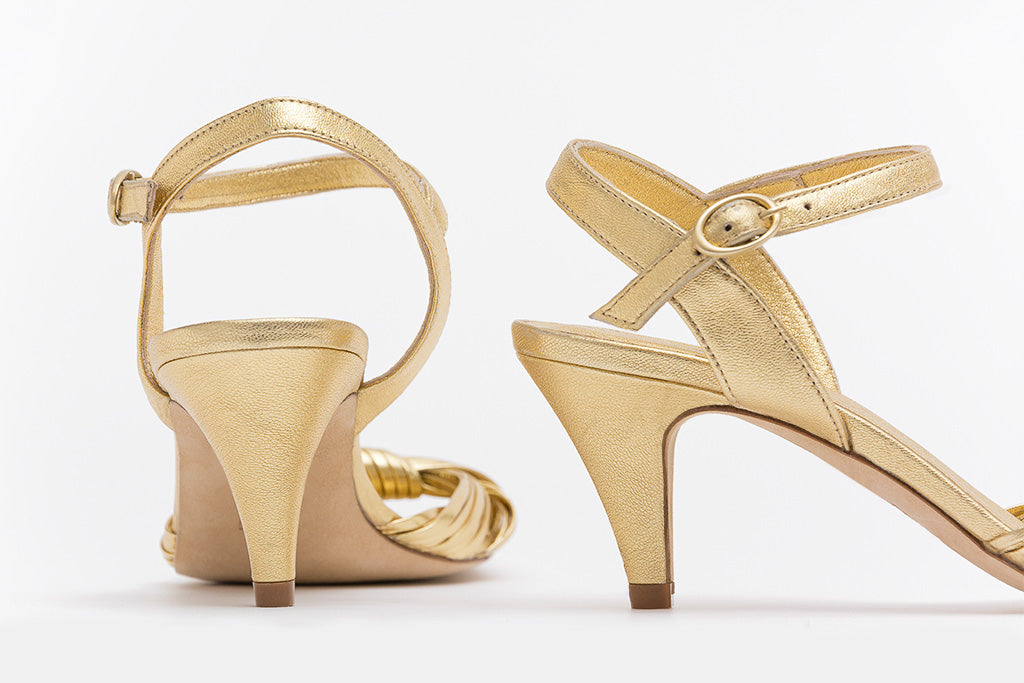 REGINA Golden Heel Sandals